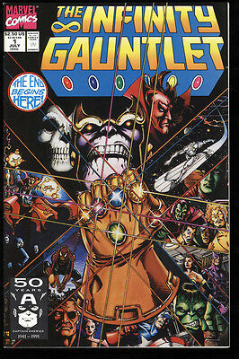 The Infinity Gauntlet #1 NM White Pages