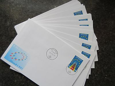 Aland. 1995 Admission to EU Set of 23 Different First Day Covers.