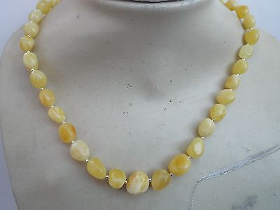 Natural Baltic amber yellow necklace - 17.6 grams
