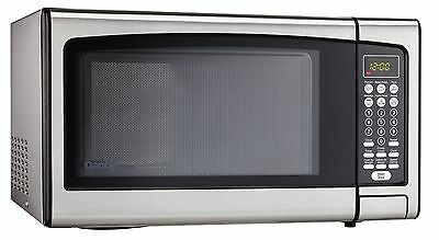 Danby Designer 1.1-Cubic Feet Countertop Microwave Stainless Steel 1.1 cu.ft