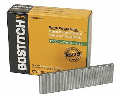 BOSTITCH SX50351-3/8G 1-3/8-Inch by 18 Gauge by 7/32-Inch Crown Finish Staple...