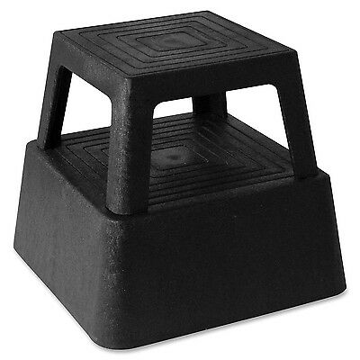 Genuine Joe GJO02428 Structural Plastic Step Stool with 4 Casters 350 lbs Cap...