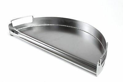 Charcoal Companion Stainless Pro Grill Griddle (Half Circle)-CC3509