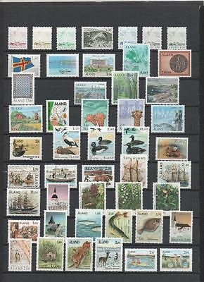 Aland Collection 1984/2007 Mmint On 8 Pages Cat £500+