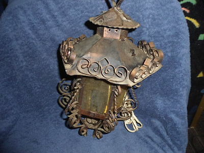 Vintage COPPERED COLORED Gothic Outdoor Light Carriage Porch Lamp Lighting