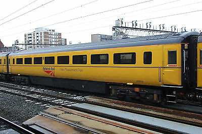 NMT HST MKIII Conference Coach 975814 Network Rail Yellow at Stockport