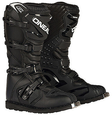 Oneal Mx Rider Boots Black Supercross Motocross Off Road Size 9-Us