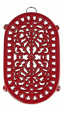 Old Dutch Red Oblong Trivet 9-3/4 by 6-Inch