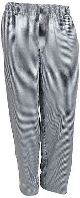 Mercer Culinary M60030HTL Millennia Unisex Cook Pants in Hounds Tooth Large B...