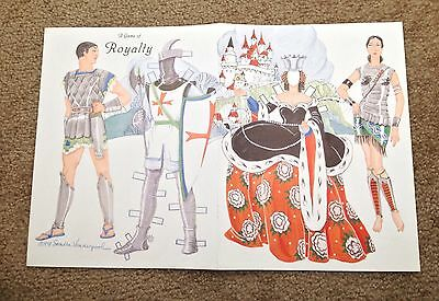 A Game of Royalty Paper Doll by Sandra Vanderpool, 1998 Mag. Color Plate, 1990