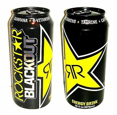 1x Rockstar Energy Drink - BLACKOUT - ONE Full, Sealed 16 oz Can - NEW 2016