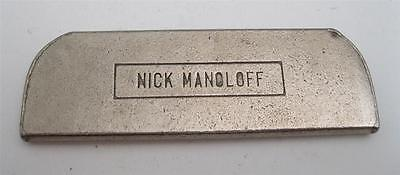 Vintage Nick Manoloff Lap Guitar Steel Slide Bar NOS