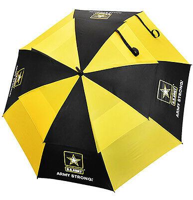 "NEW Ray Cook Golf U.S. Military Windcutter Double Canopy Umbrella 62"" Army"