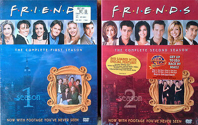 Friends - Complete First Season + Complete Second Season - Sealed Dvd Box Sets