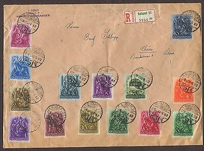 Hungary 1939 Registered Cover Death Of St Stephen Issues Budapest