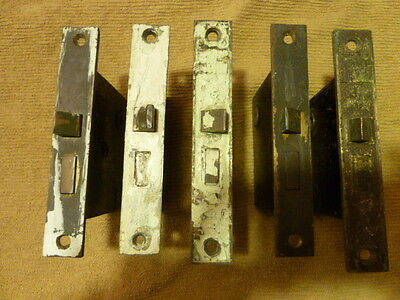 5 Working Antique Lock Latches In Various Degrees Of Renovation/Rare & Unusual