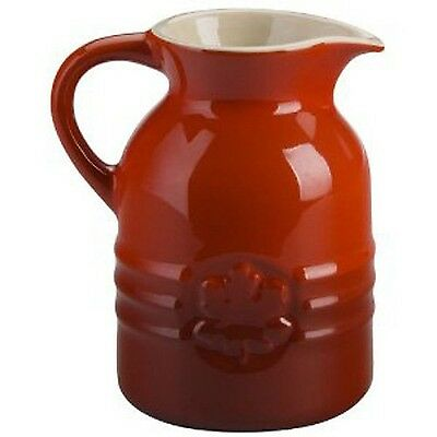 Le Creuset Stoneware 8-Ounce Syrup Jar (Cherry Red)