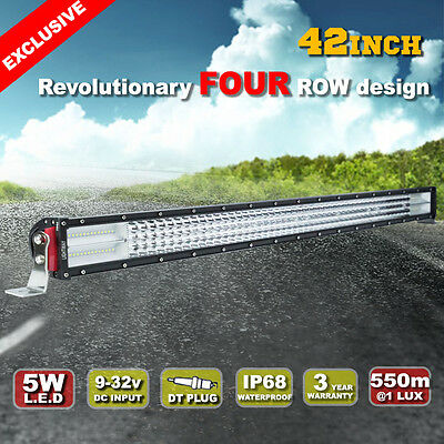 42inch 1240W Cree Light Bar Spot Flood Combo Offroad Work Driving 550@1Lux