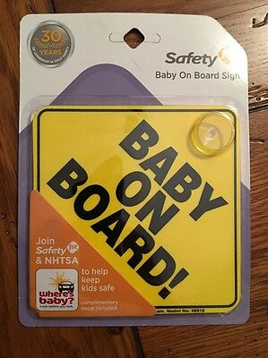 "SAFETY 1ST/DOREL Yellow ""Baby On Board"" Sign"