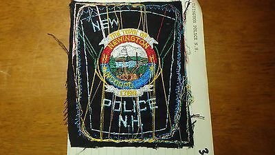 Newington  New Hampshire Police Department Salesman Copy Obsolete Patch Bxsp#356
