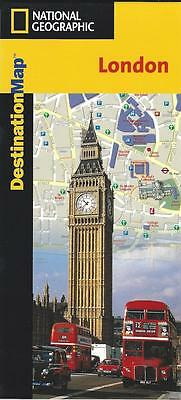 Map of London, England, by National Geographic Destination Maps
