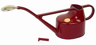 Bosmere V101 Haws Deluxe Plastic Watering Can 1.3-Gallon/5-Liter Red