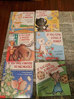 Lot of 6 If you give a Mouse a Cookie Books BRAND NEW paperback