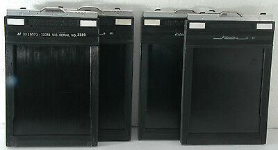 four Graphic Riteway 4 x 5 inch Sheet Film Holders made in USA