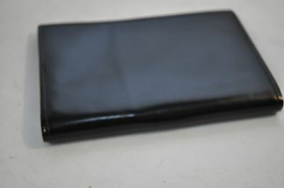 NEW TOP GRAIN COWHIDE Black Leather Bi-fold Card Cash ID Wallet