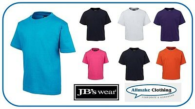 NEW JB's Wear Kids Tee TShirts 1KT Childrens Plain Boys Girls Tshirt Sport Shirt