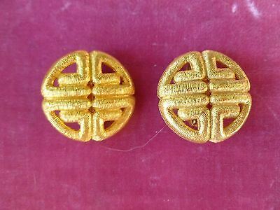 Pair Of Gorgeous Vintage Givenchy Runway Earrings
