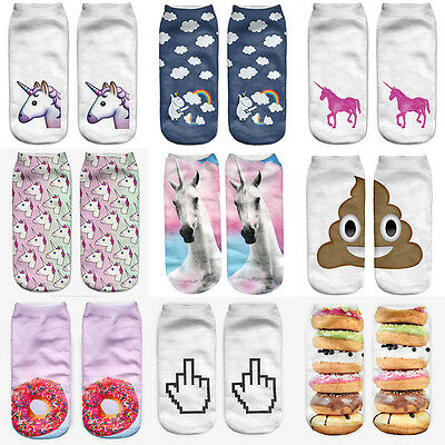 1 Pairs Men's Womens Ankle No Show Casual Sport Cotton Socks Size 7-11 Low Cut 7