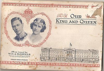 1937 TOBACCO CARD Album BY W.D.& H.0.WILLS OUR KING AND QUEEN British Royalty
