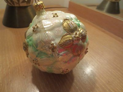 The Vatican Library Collection  Polonaise Collection Lily Glass Ornament In Box