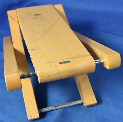 "Wooden Adjustable Guitar Foot Rest Stool 4.5""-9"" Height"