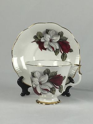 Vintage Imperial 655 Fine English China 22 Karat Gold Trim Tea Cup and Saucer