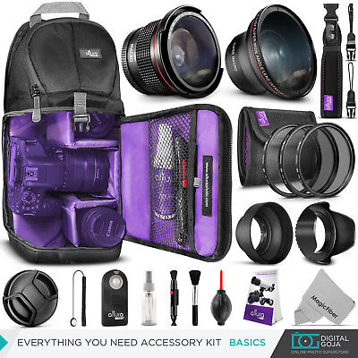 Nikon D5300 / D3300 Basic Accessory Kit - Bag, Lens, Filters & Remote Included