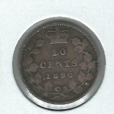 Canada Ten Cents 1890-H Fine