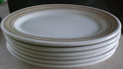 Shenango China Oval Steak Plates Platters Restaurant Wear Light Brown Lot of six