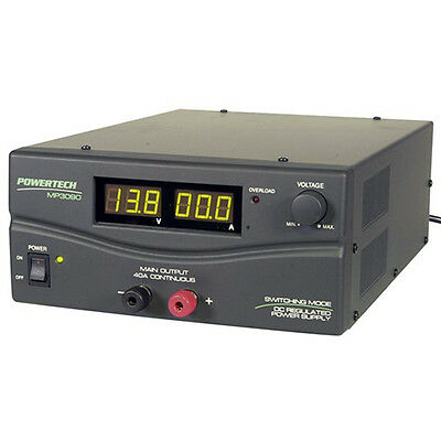 Powertech 3V to 15 Volt DC 40 Amp Regulated Switchmode Laboratory Power Supply