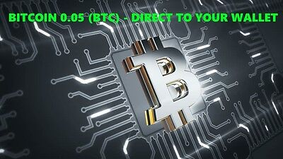 Bitcoin 0.05 (BTC) - Mined Bitcoin Direct To Your Wallet