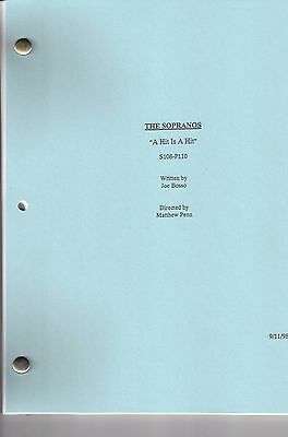 """THE SOPRANOS show script """"A Hit Is A Hit"""""""