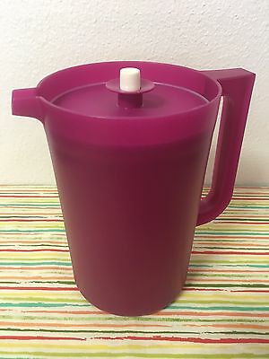 Tupperware Classic Push Button Pitcher 2 Qt Plum New