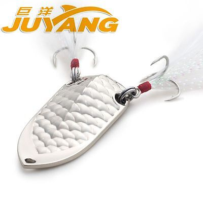 JUYANG shadow crankbait fishing spoon metal lure bass treble hook