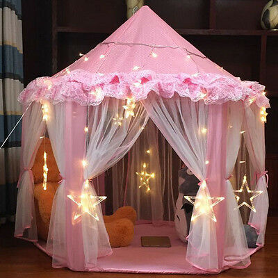 New Comeing Children Pop Up Play Tent Princess Lace Playhouse Wigwam Party Gift