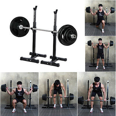 Fitness Squat Rack Power Cage & Pull Up Bar Multi Gym Weight Lifting Adjustable