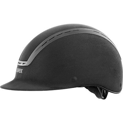 Uvex Riding helmet suxxeed velours black Dressage Spectacle wearers fits Matte