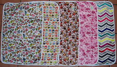 Minky Baby Nappy Change Mat Waterproof Washable Super Soft Eco Friendly