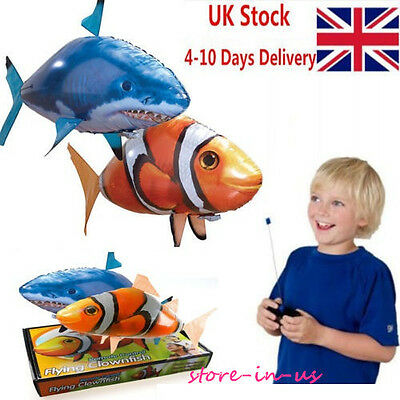 Remote Control RC Inflatable Balloon Air Swimmer Flying shark Fish Radio Blimp !