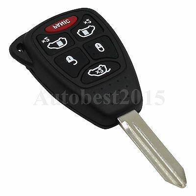 6 Button Remote Key Fob Case Shell Key Blade For Chrysler Town Country Dodge